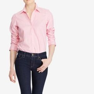 Lauren Ralph Lauren Pink White Gingham No Iron